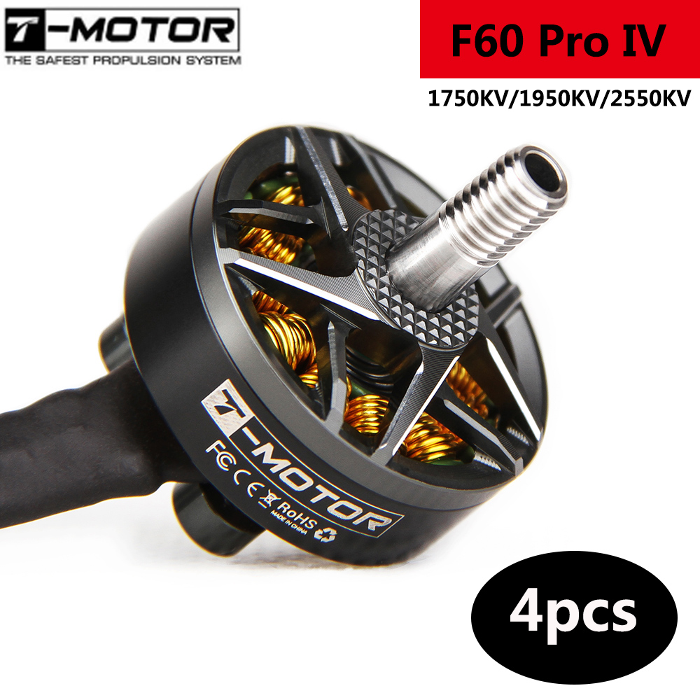 4pcs/lot T-motor F60 Pro IV IIII Generation 4 2207 1950KV 2550KV 5-6S Brushless Motor T5146 T5150 Props For RC FPV Racing Drone