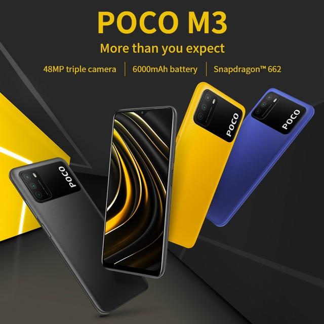 "POCO M3 Global Version 4GB 64GB/128GB Xiaomi SmartPhone Snapdragon 662 Octa Core 6.53"" FHD+Display with 48MP AI Triple Camera 2"