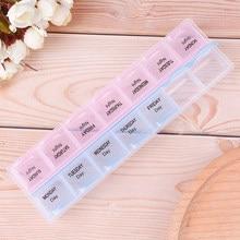 Коробка для таблеток, 1 шт., 7 дней, еженедельный держатель для таблеток, органайзер для хранения, чехол, коробка для таблеток, разделители