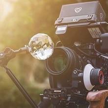 Prisma de cristal DIY accesorios de estudio de fotografía Bola de prisma de cristal con tornillo de 1/4 división de haz caleidoscopio Filtro de lente