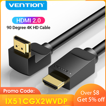 Tions HDMI Kabel 4K HDMI 2,0 Kabel HDMI 90/270 Grad Winkel Adapter für Apple TV PS4 Splitter Video Audio 90 grad HDMI Kabel