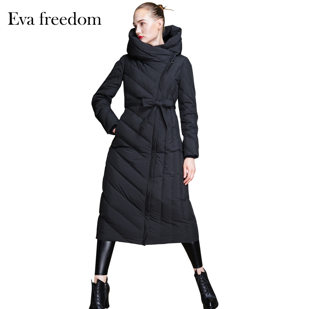 2020 New Long Parka Women Winter Down Coat Female Fashion Laides Duck Down Jacket Thick Warm Elegant Outwear Hiver F18018