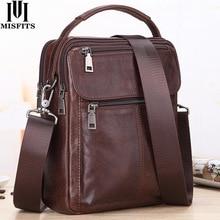 MISFITS Mens Messenger Bag fashion Waterproof zipper leather shoulder Bag casual multi function business handbag mens New