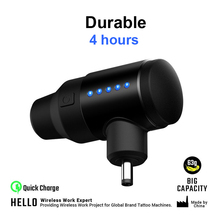 Long-lasting unit Portable charging wireless tattoo power supply DC&RCA interface Source of machine lightweight