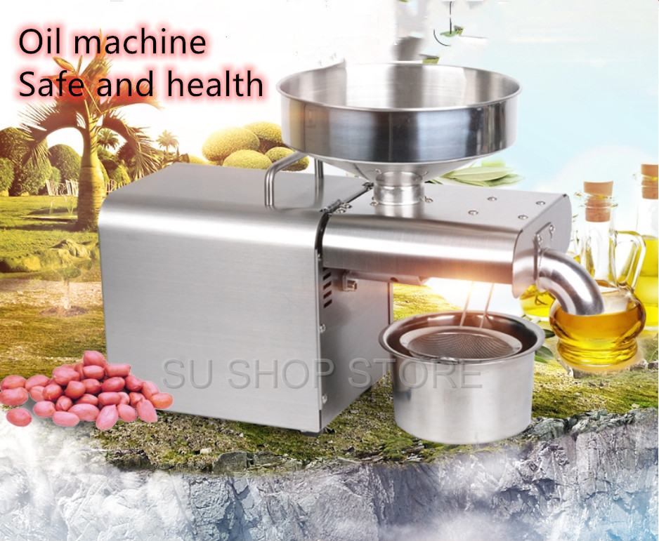 Automatic intelligent Stainless steel oil press cold oil machine home oil presser  Sunflower olive oil extractor|Oil Pressers| |  - title=