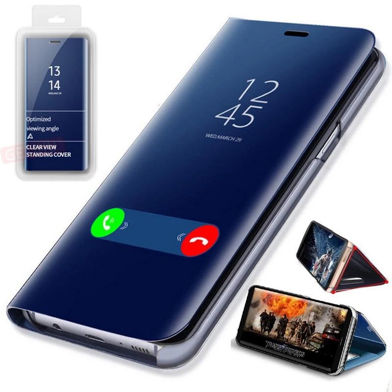 GETIHU 360 Miroir Flip étui pour samsung Galaxy S10 Bord S9 S8 S7 S6 Plus Note 9 8 A8 A7 A3 Coque Protection Couverture De Téléphone Portable