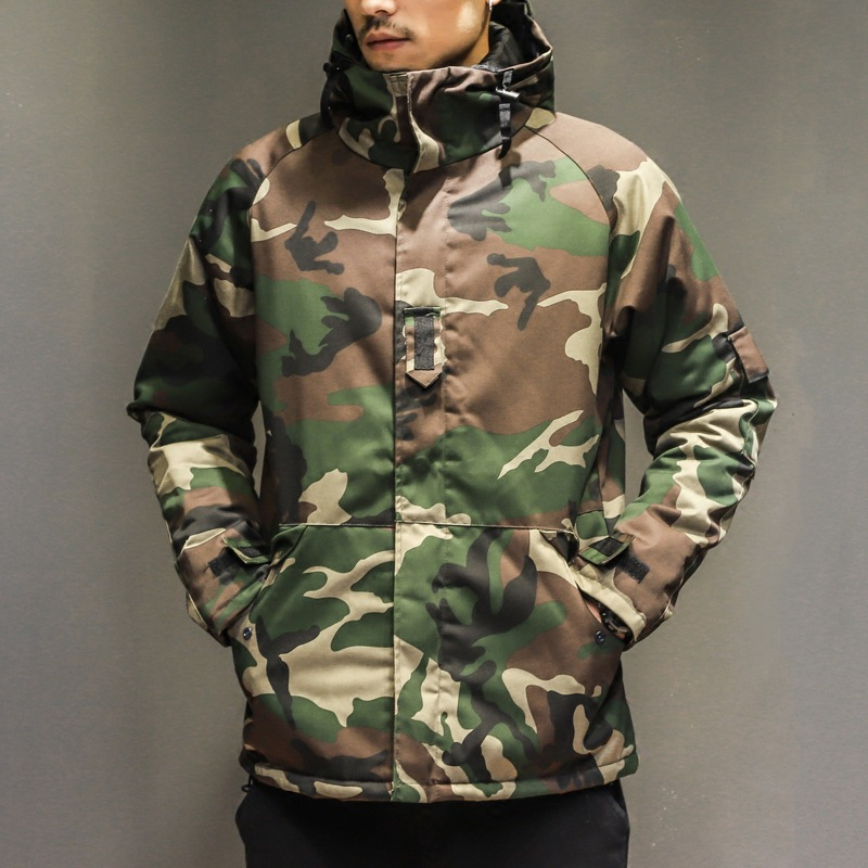 Winter Jacket Windrproof-Coat Camouflage Windbreaker Harajuku Fashion Skateboard Outdoors
