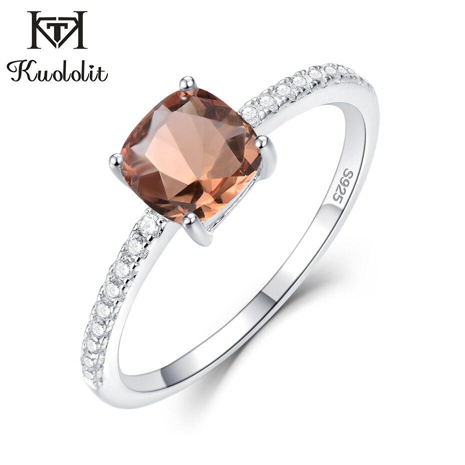 Kuololit Diaspore Zultanite Gemstone Rings for Women Girls Solid 925 Sterling Silver Wedding Engagement topaz emerald sapphire(China)