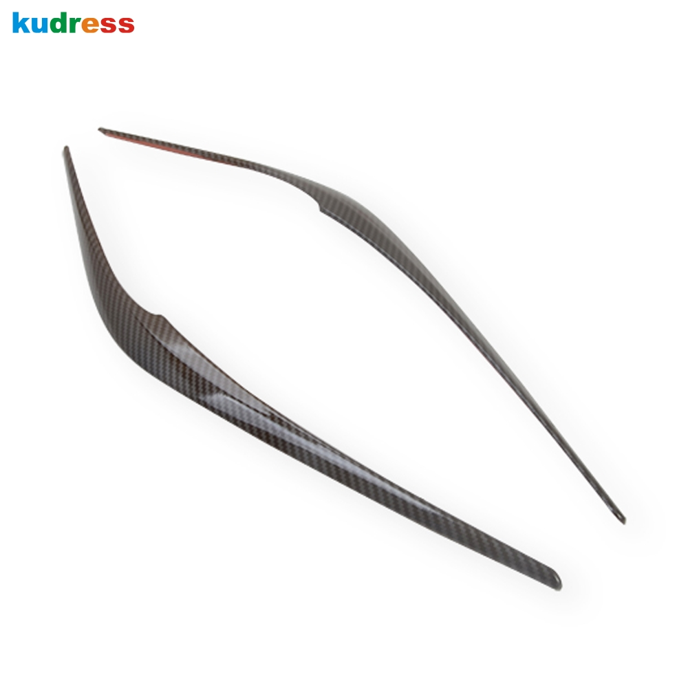 For <font><b>Mazda</b></font> CX-5 <font><b>CX5</b></font> KF 2017 <font><b>2018</b></font> 2019 2020 Carbon Fiber Car Headlight Eyebrow Cover Trim Head Lamp Eyelid Exterior Accessories image