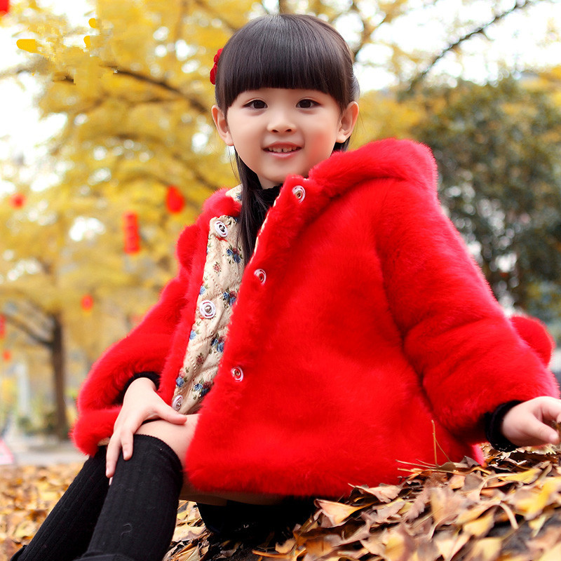 Image 2 - PPXX Plus Size Winter Girl Coats Fur Jackets Snow Kids Clothing Down Parkas Children Jacket Baby Coat Hooded Fashion ThickJackets & Coats   -