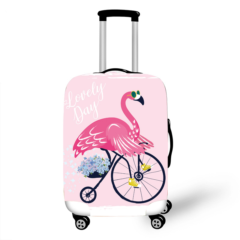 White Dull Owl Decor Travel Luggage Protector Case Protective Suitcase Cover Elastic Luggage Protector Case Protector,Four Sizes Available