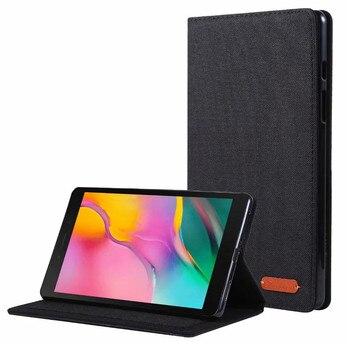 Funda abatible con soporte para Tablet para Samsung Galaxy Tab A 8 A8 2019, funda SM-T295 T297, funda protectora de Material vaquero para Samsung Tab A 2019