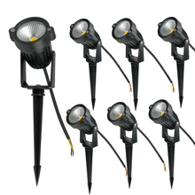 Garden-Pathway-Lights Spike-Lawn-Lamps Trees Outdoor Waterproof 220V 5W with 10pcs Flags