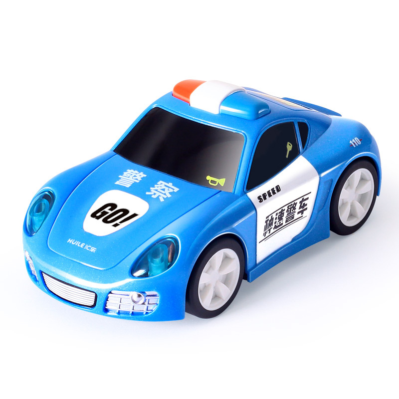 Department Of Music 798 Electric Toy Car Children Electric Police Car Boy Model Sports Car 2-4 Years Old Educational Sound And L