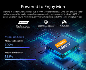 "Image 5 - Blackview A80 Pro Quad Rear Camera Octa Core 4GB+64GB Mobile Phone 6.49"" Waterdrop 4680mAh 4G Celular Smartphone Global Version"