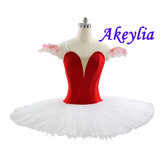 professional ballet tutu Red white for chilren Without Decoration Platter Tutu black Pink Plain Pink Pancake Tutu ballet costume