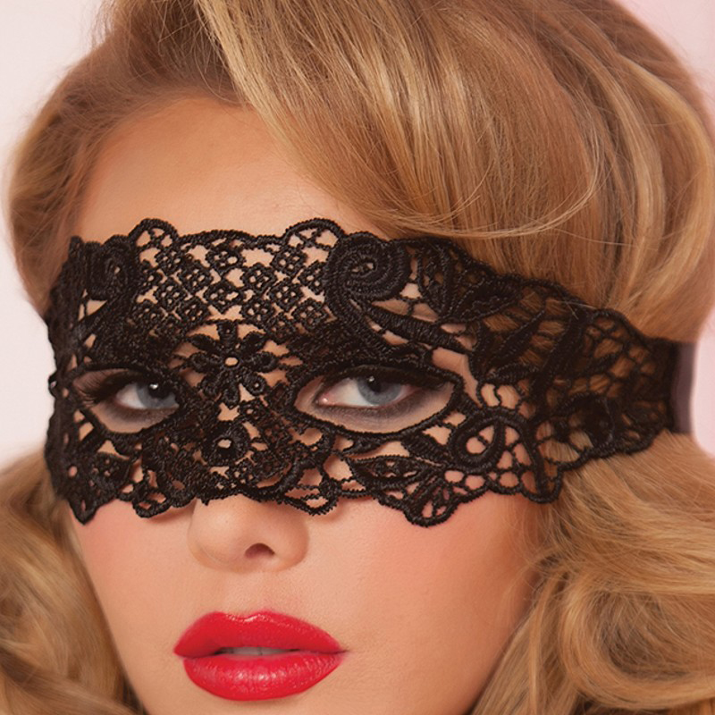 Hollow Lace Mask Erotic Costume 2