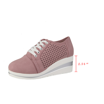 WDHKUN Autumn Women Flats Shoes Female Hollow Breathable Mesh Casual Shoes For Ladies Slip On Flats Loafers Lace Up Shoes Beach 1