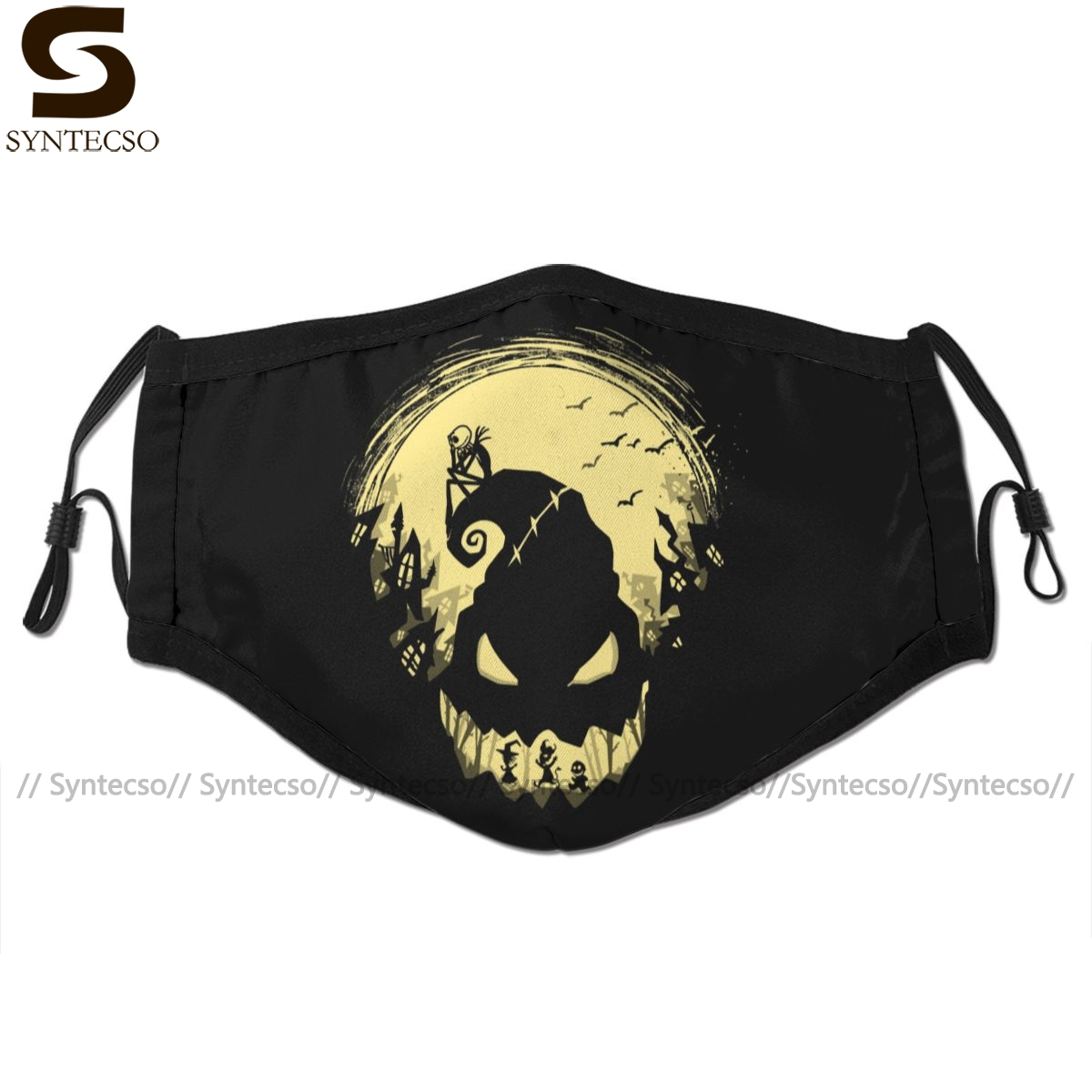 Skeleton Mouth Face Mask Jack S Nightmare Facial Mask Cool Kawai With 2 Filters For Adult