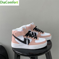 2021 Hot Flats Sneakers Women's Shoes Ladies Casual Breathable Comfortable Female PU leather Shoes Lace Up Woman Walking Shoes 1
