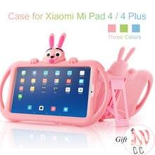 Silicone Case for Xiaomi Mi Pad 4 plus 10.1 Soft Cute Stand Kids Tablet Cover for Xiaomi Mipad 4 Case Mi Pad4 8 inch