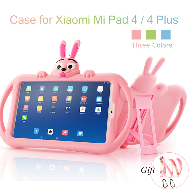 Silicone Case for Xiaomi Mi Pad 4 plus 10.1 Soft Cute Stand Kids Tablet Cover for Xiaomi Mipad 4 Case Mi Pad4 8 inch