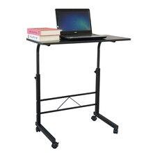 Регулируемый съемный стальной стол (80x40x68 86) см черный компьютерный