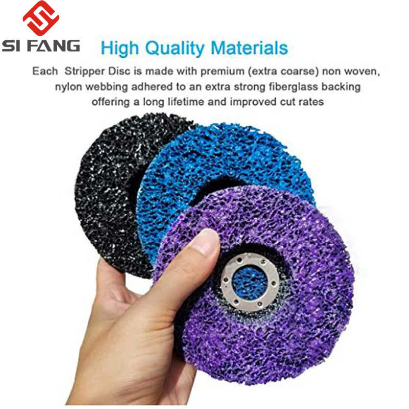 """7/"""" Poly Strip Disc Grinding Wheel Abrasive Tool for Paint Removal 7//8/"""" Bore 2Pcs"""