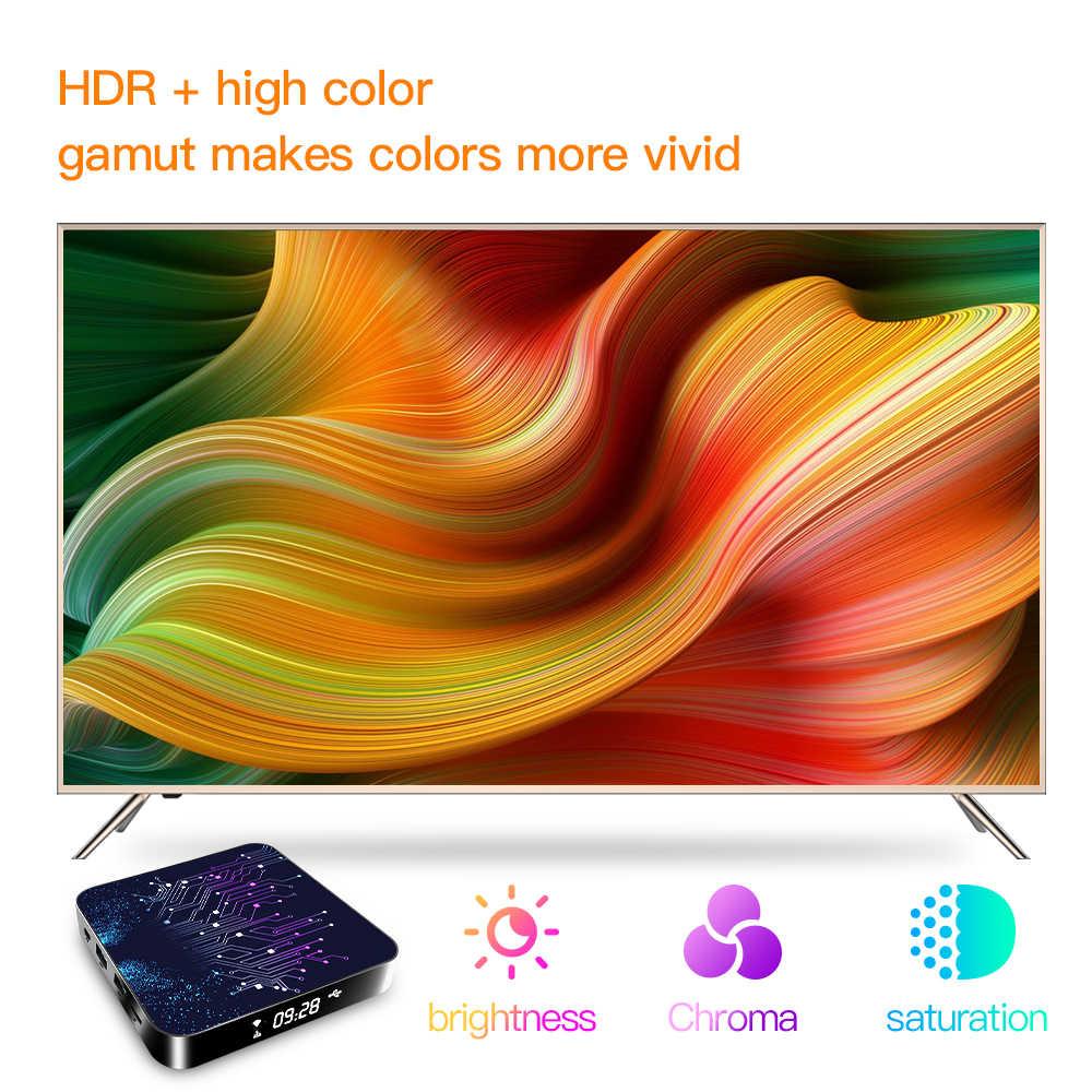 Topsion Android TVกล่องAndroid 10 4GB 32GB 64GB 4K H.265 Media Player 3Dวิดีโอ 2.4G 5GHz Wifiบลูทูธสมาร์ททีวีSet Top Box