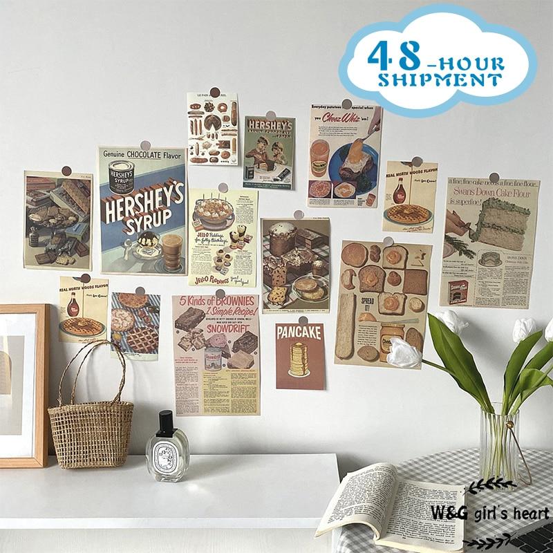 W & G Ins plakat Retro Gourmet chleb dekoracja ścienna W tle karty rekwizyty fotograficzne wszechstronny B & B z miękkimi naklejkami