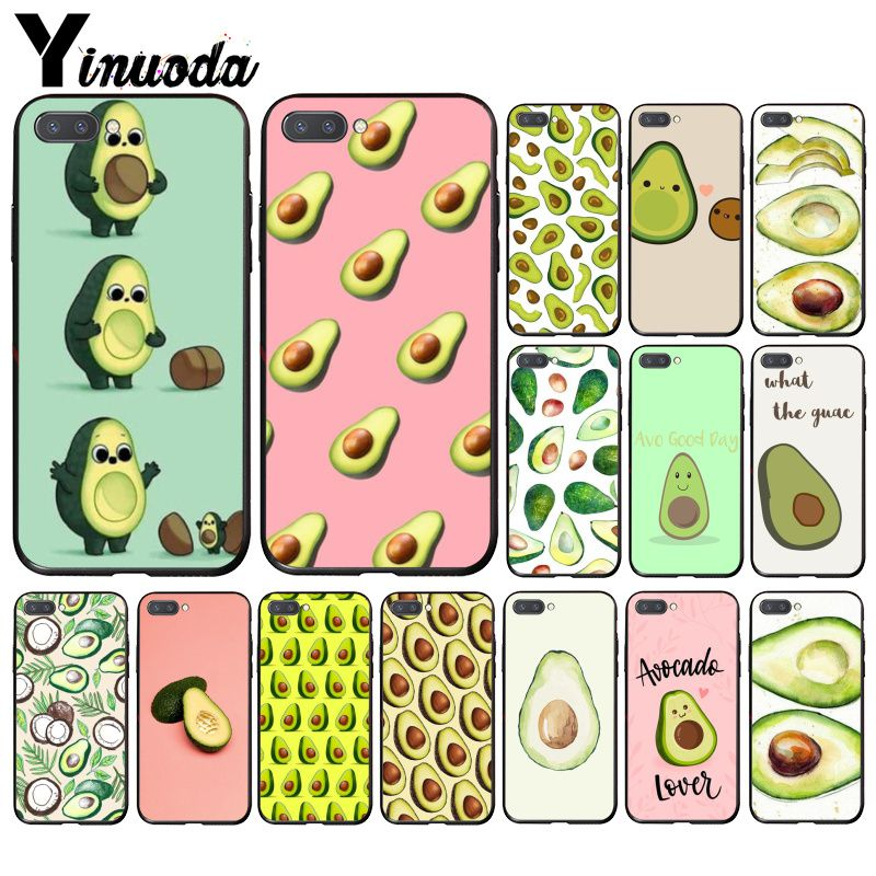 Yinuoda Avocado Aesthetic Gteen Fruit Food Phone Case For Huawei Honor 8A 8X 9 10 20 Lite 7A 5A 7C 10i 20i
