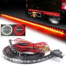 Bande lumineuse Flexible de 60 pouces, 90 pièces, feu de signalisation rouge, feu de stop et de stationnement, lumière blanche