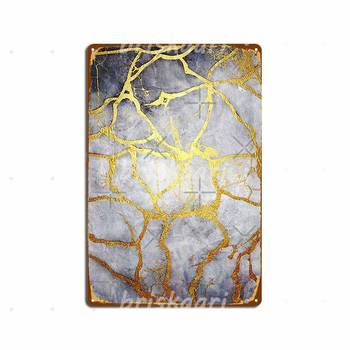 Kintsugi Recognise Beauty Metal Signs Mural Painting Club Party Kitchen Printing Metal Posters image