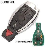 Qcontrol Bga Stijl 4 Knoppen Afstandsbediening Slimme Auto Sleutel 315Mhz/433Mhz Voor Mb Mercedes Benz E S 2 Ondersteunt Originele Nec Bga Fob