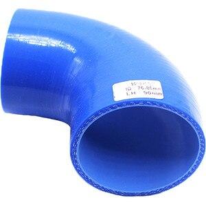 Image 4 - SPSLD Universal Auto regulierung Fahrzeug 90 ° Reduziert Silica Gel Schlauch Turbolader Minderer Rohr Joint Fahrzeug Zubehör