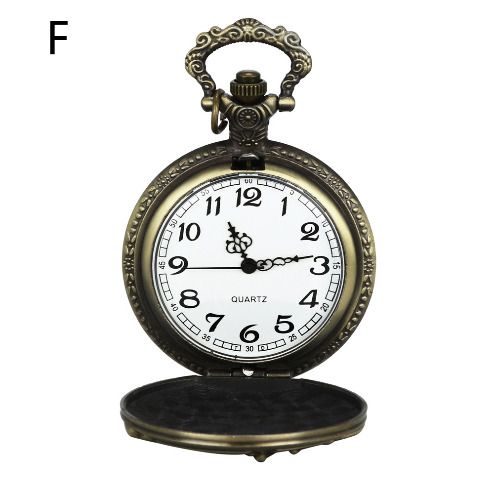 Vintage Chain Retro The Greatest Pocket Watch Necklace For Grandpa Dad Gifts Watch Clock Wholesale Relogio De Bolso #4J07