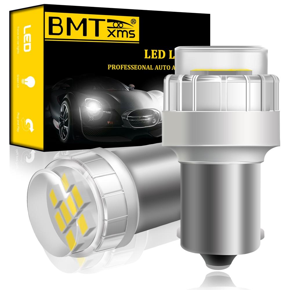 BMTxms-luces de circulación diurna para Kia, luces LED Canbus P21W 1156 BA15S, Stonic Picanto MK2 JA Sportage 4 QL Carens IV, color blanco, 2 uds.