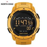 NORTH EDGE-reloj Digital deportivo para hombre, cronógrafo con doble horario y alarma, resistente al agua hasta 50M, estilo militar