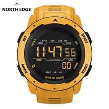 Noord Rand Mannen Digitale Horloge Mannen Sport Horloges Dual Tijd Stappenteller Wekker Waterdicht 50M Digitale Horloge Militaire klok