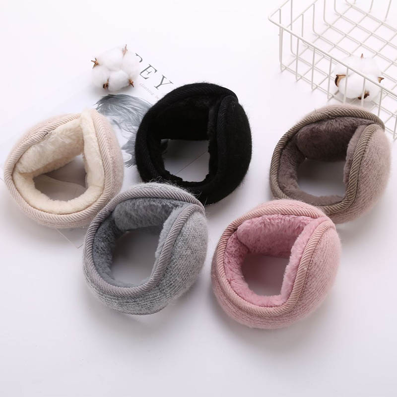 Q 2020 Fashion Unisex Solid Winter Earmuffs Soft Thicken Plush Ear Cover Protector Ear Muff Wrap Band Warm Earflap For Men Women