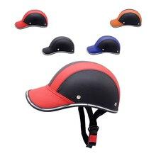 цена на Motorcycle Unisex Half Face Protective Helmet Adult Motorbike/Bike/Bicycle Helmet Half Motorcycle Armor Jacket Helmet