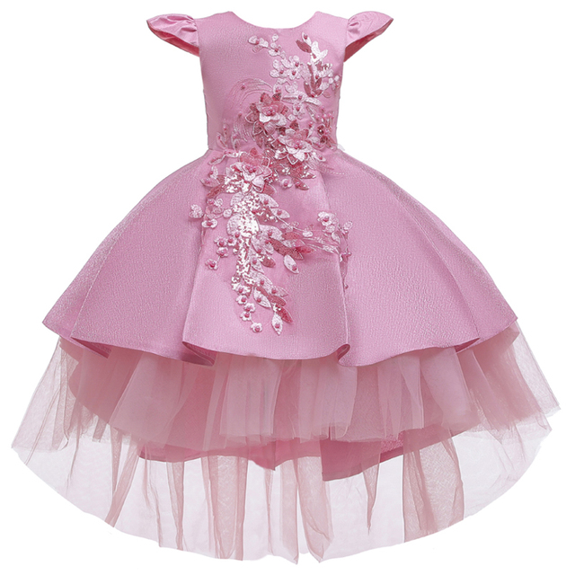 Wedding Tulle Lace Long Girl Dress  6