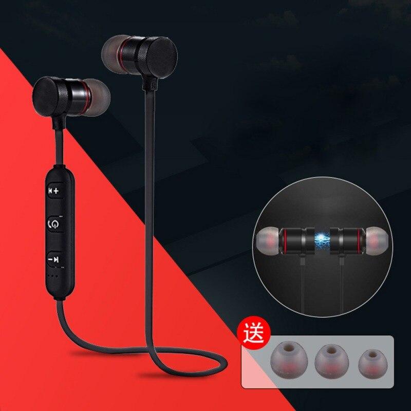 Newest Wireless Stereo Bluetooth Earphone Headest Neckband Sport Earphone Bluetooth For All Phone Magnetic In-Ear Stereo