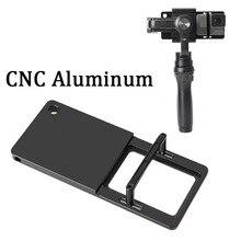 Adaptateur de cardan portable plaque de montage pour GoPro Hero 8 7 6 5 Yi4K SJCAM Feiyu Zhiyun DJI Osmo ensemble daccessoires pour caméra daction