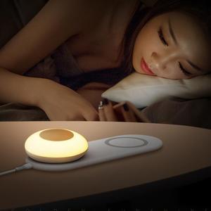 Image 5 - 10ワットの携帯電話の高速ワイヤレス充電ボードledテーブルランプ調光独立した磁気タッチ夜の光iphoneサムスン