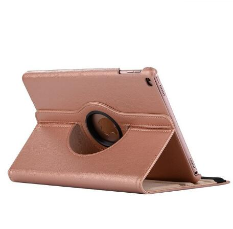 Rose gold Silver 360 Degree Rotating PU Leather Flip Cover Case For iPad 10 2 2020 2019 8th 7th
