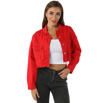 Women Denim Jackets Boyfriend Jean Jacket Oversized Crop Vintage Long Sleeve short Jacket Casual Loose Coat black bomber jacket цена 2017