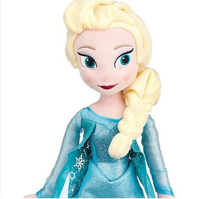 50 CM Frozen Snow Queen Elsa Stuffed Doll Princess Anna Elsa Doll Toys Elza Stuffed Plush Kids Toys Halloween Birthday Gift 2