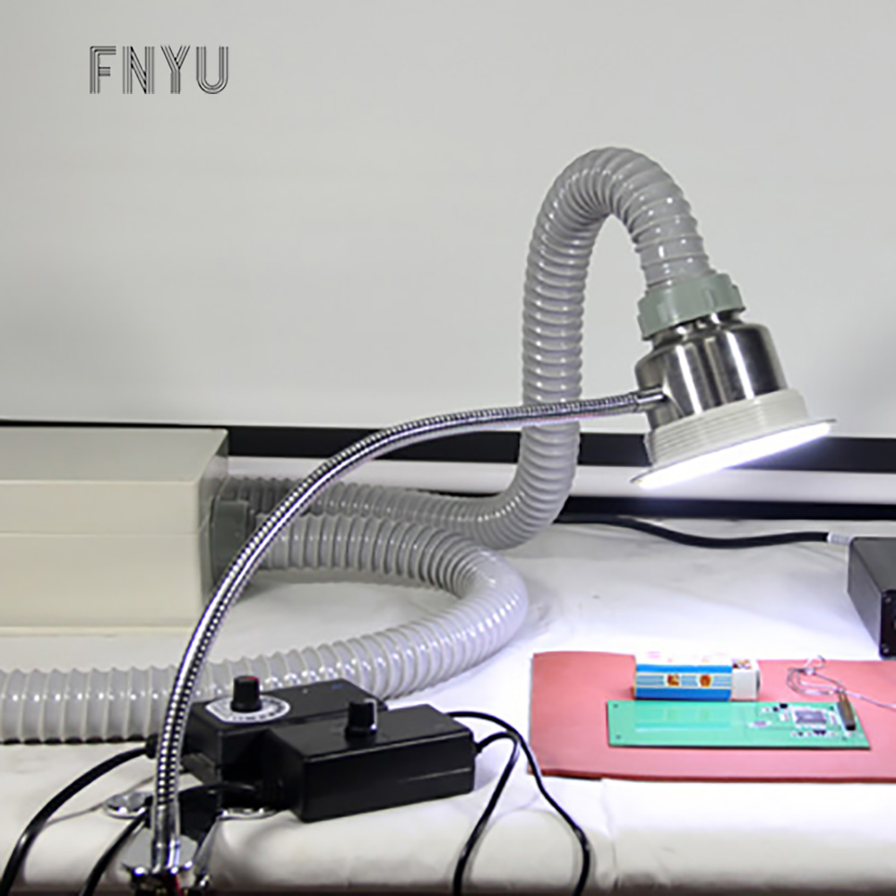 TBK 30W anti-static lighting solder smoker speed regulating smoke exhauster for mobile phone repair welding instrument tools