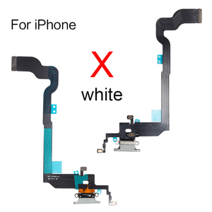 """Image 2 - 10pcs/lot USB Charging Port Dock Connector Flex For iphone 5 5s SE 2020 6 6s 7 8 plus 4.7""""&5.5"""" X XR XS MAX With Mic Repair Part"""